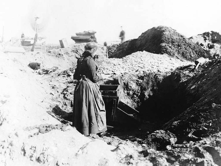 Woman Gold Mining ca. 1900