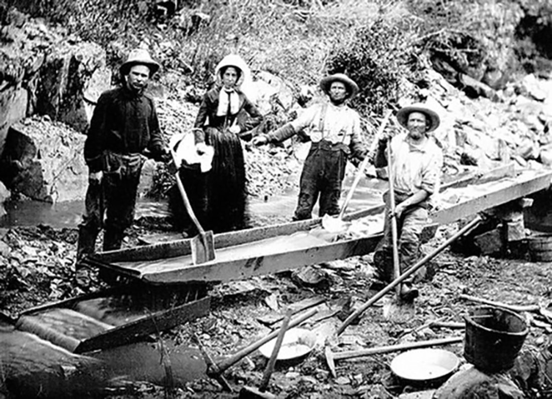 Woman Mining with Men - Auburn Ravine 1852
