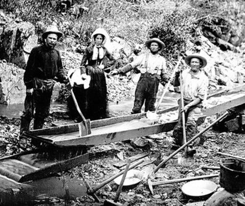 Woman Mining with Men - Auburn Ravine 1852